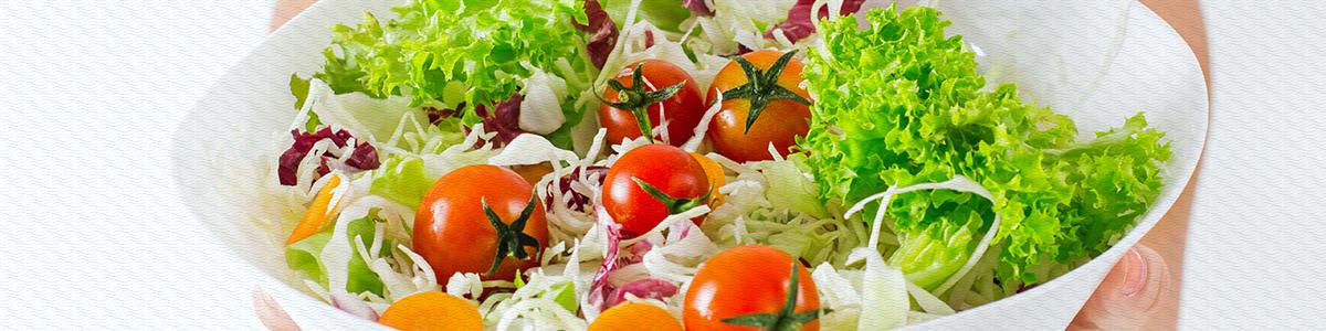 Nutrientes de uma salada